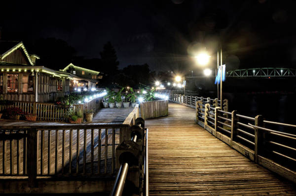 Wall Art - Photograph - Wilmington Riverwalk By Night by Brendan Reals