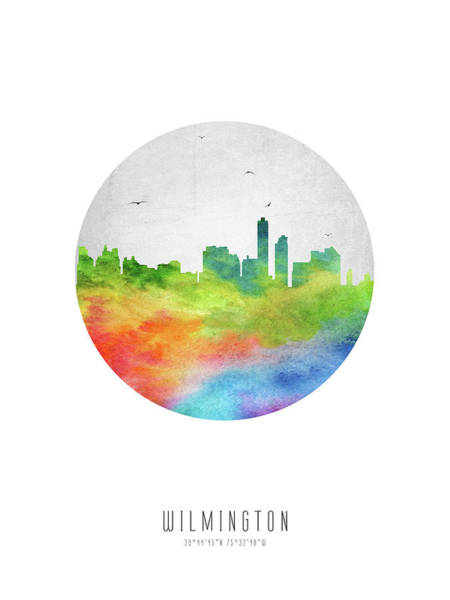 Wilmington Delaware Wall Art - Digital Art - Wilmington Skyline Usdewi20 by Aged Pixel