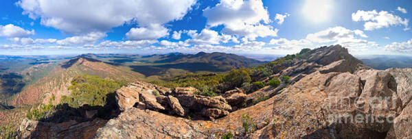 Wall Art - Photograph - Wilpena Pound And St Mary Peak by Bill  Robinson