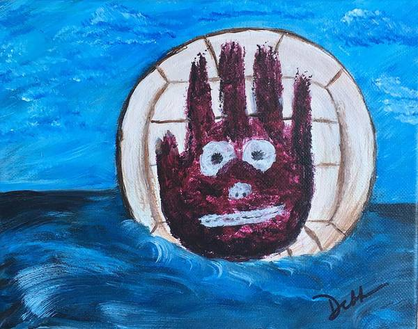 Volley Painting - Wilson by Deborah Mattas