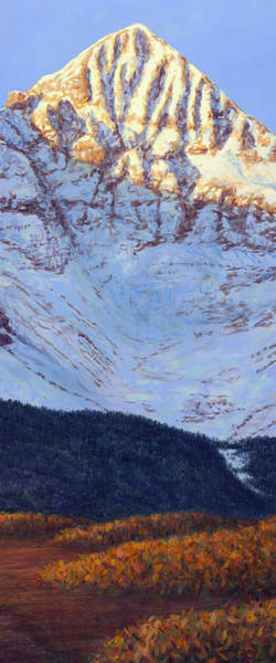 Wall Art - Painting - Wilson's Peak In Fall by James W Johnson