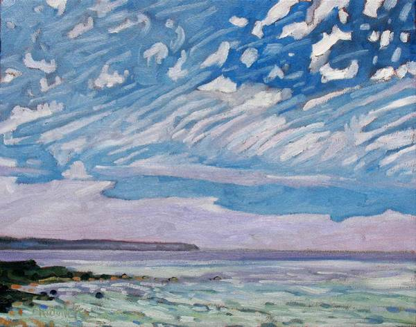 Lake Huron Painting - Wimpy Cold Front by Phil Chadwick