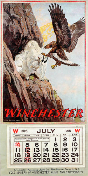 Painting - 1915 Winchester Repeating Arms And Ammunition Calendar by Lynn Bogue Hunt