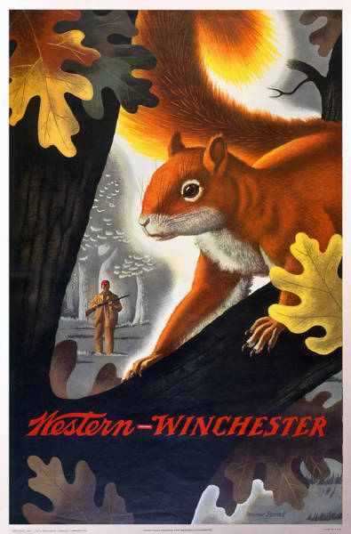 Painting - Winchester-western Squirrel Hunting by Weimer Pursell