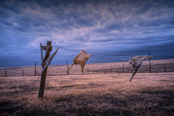 Photograph - Wind Blown Wash In Infrared On The Clothesline by Randall Nyhof