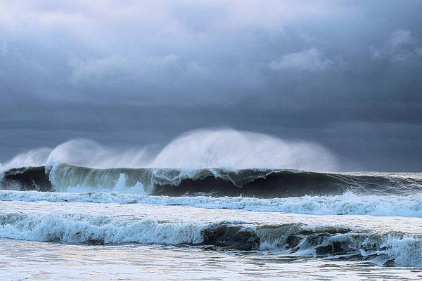 Photograph - Wind Blown Waves by Robert Banach