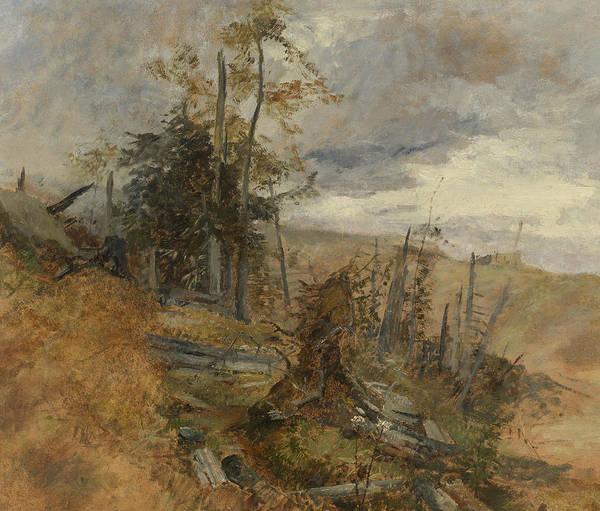 Marie Painting - Wind Break by Marie Egner