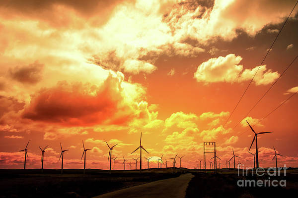 Wind Turbine Wall Art - Photograph - Wind Farm by Delphimages Photo Creations