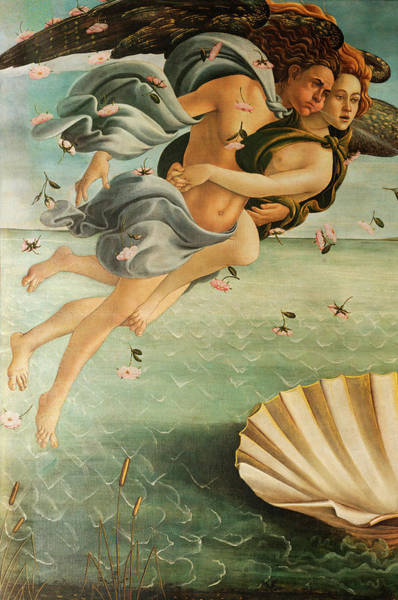Sandro Botticelli Painting - Wind God Zephyr by Sandro Botticelli