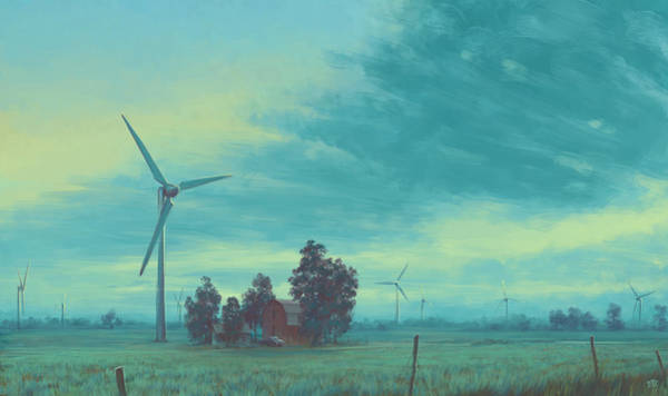 Skyscape Painting - Wind Harvest by Matthew Sample II