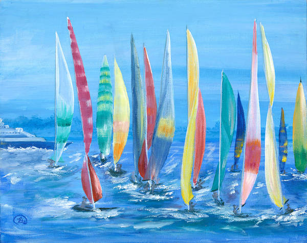 Cape May Painting - Wind In Their Sails by Nila Taylor