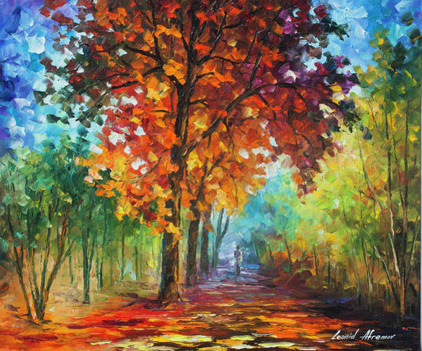 Wall Art - Painting - Wind Of Passion by Leonid Afremov