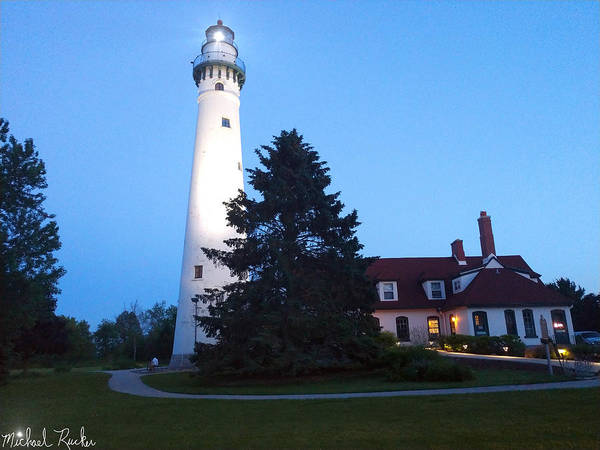 Lighthouse Wall Art - Photograph - Wind Point Lighthouse by Michael Rucker