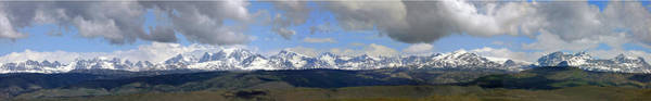 Dm9504-wind River Range Panorama  Art Print