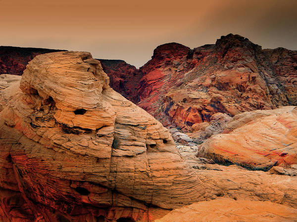 Photograph - Wind Sculpted Rock Formations by Frank Wilson