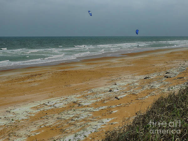 Flagler Beach Photograph - Wind Surfing In Flagler by Deborah Benoit