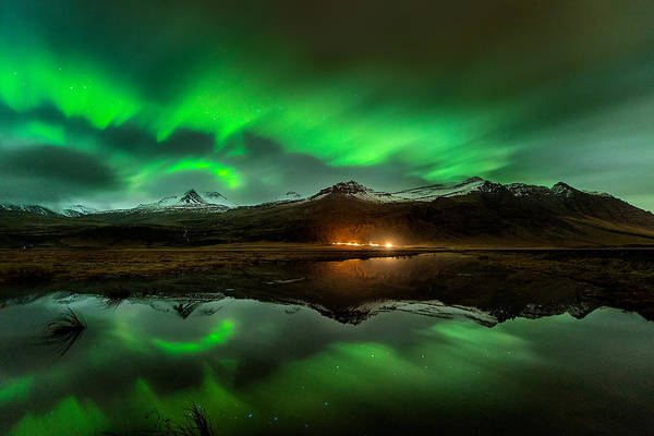 Ice Photograph - Wind To Northern Ligths by David Martin Castan