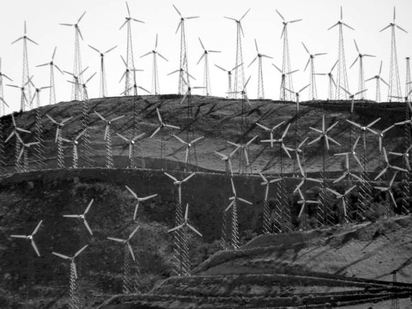 Photograph - Wind Turbine Farm by Jeff Lowe