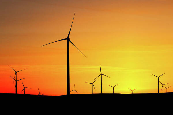 Wind Farm Photograph - Wind Turbines Silhouette by Todd Klassy