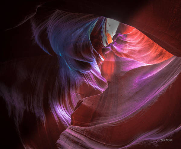 Photograph - Wind Warrior- Upper Antelope Canyon by Tim Bryan