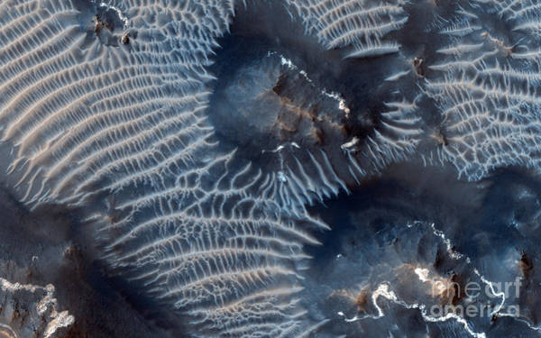 Painting - Windblown Sediments. Noctis Labyrinthus. Mars by Celestial Images