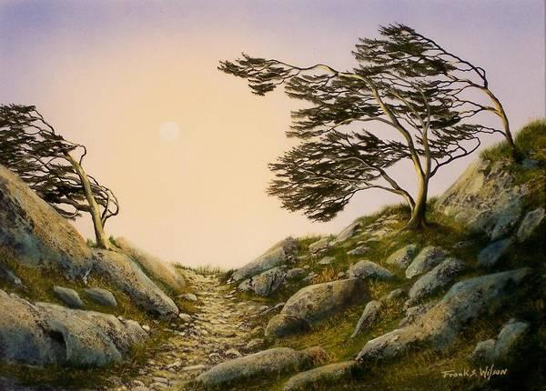 Alpine Meadow Painting - Windblown Warriors by Frank Wilson