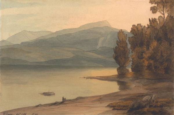 Painting - Windermere At Sunset By Francis Towne, 1786 by Artistic Panda