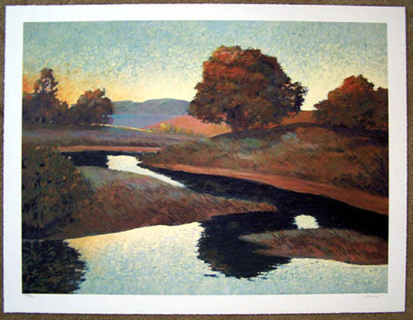 Wall Art - Painting - Winding Creek by Don Munz