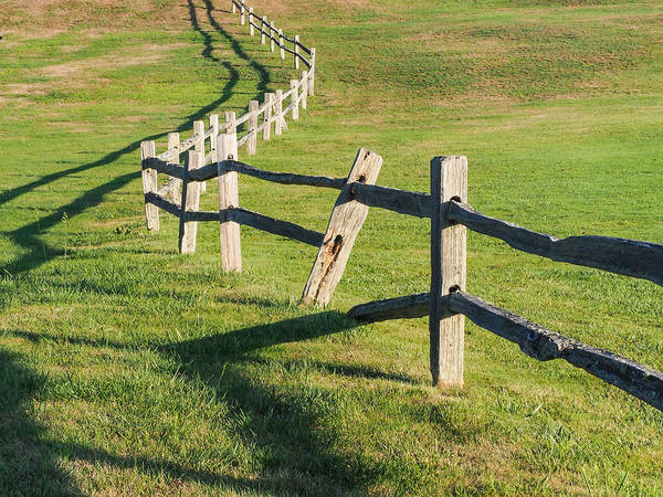Photograph - Winding Fences by Robin Zygelman