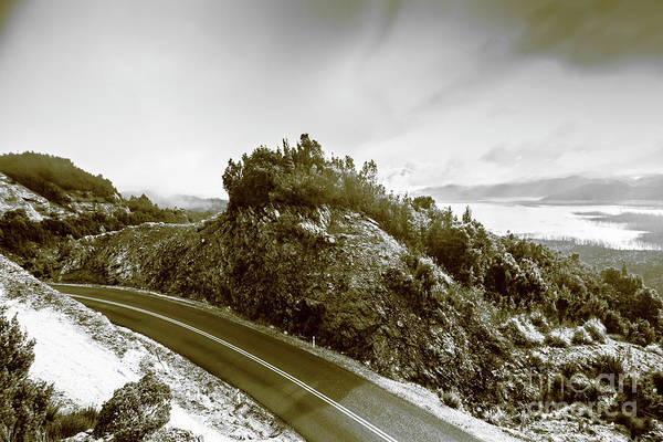 Alpine Photograph - Winding Gordon River Road by Jorgo Photography - Wall Art Gallery