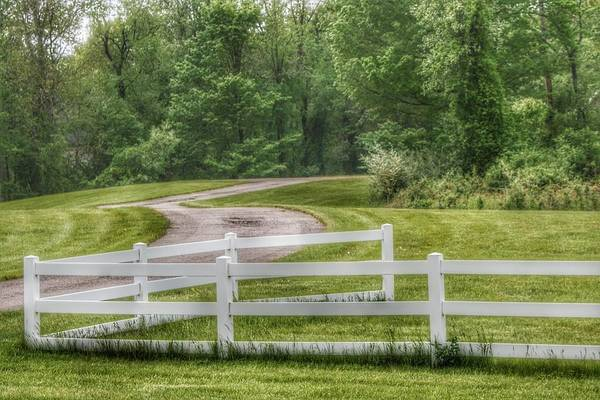 Photograph - 6006 - Winding Path And White Fences by Sheryl Sutter