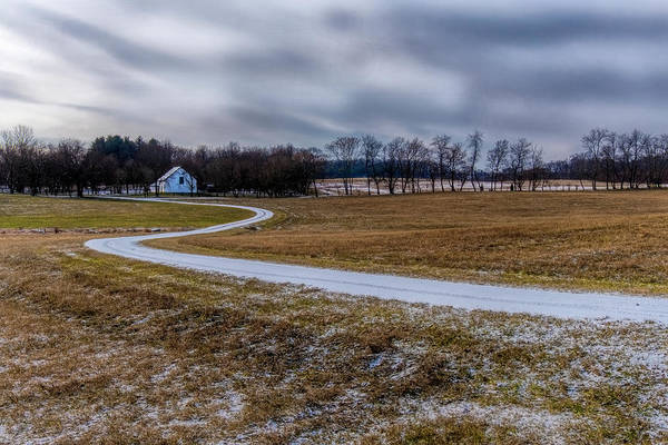 Photograph - Winding Road In Snow by Tom Singleton