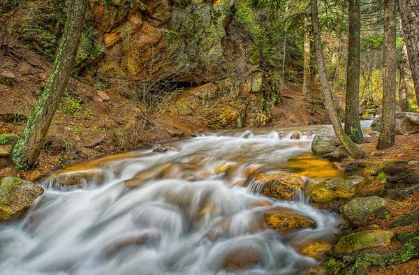 Helen Hunt Falls Photograph - Winding Stream by Tim Reaves