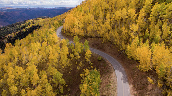 Photograph - Winding Through Fall by Wesley Aston
