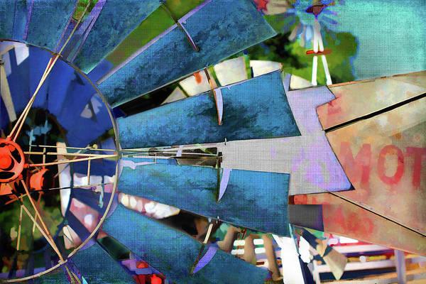 Semis Digital Art - Windmill 3 by Terry Davis