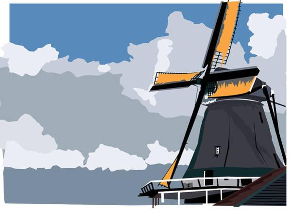 Wall Art - Digital Art - Windmill by Andy Donald