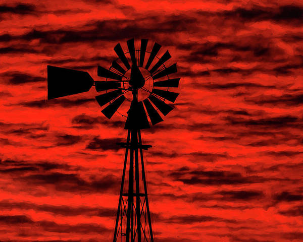 Photograph - Windmill Art -001 by Rob Graham