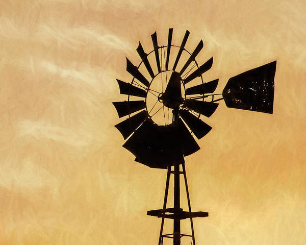 Photograph - Windmill Art -002 by Rob Graham