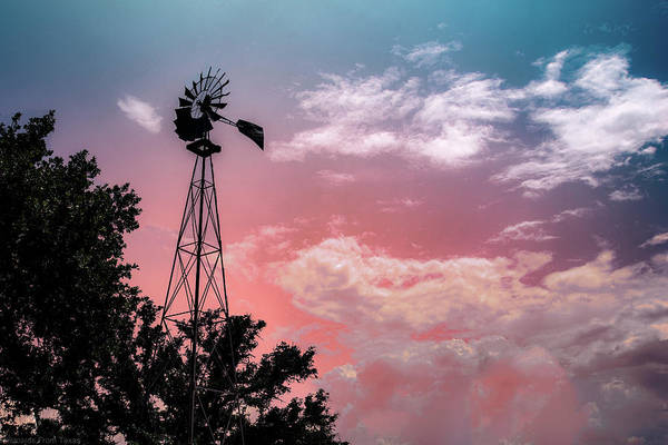 Photograph - Windmill At Sunset by Gaylon Yancy