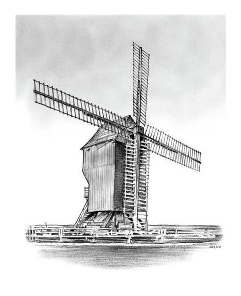 Battles Wall Art - Drawing - Windmill At Valmy by Greg Joens