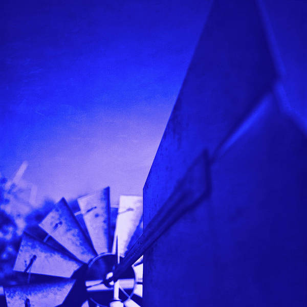 Wall Art - Photograph - Windmill Blades And Vane Ultraviolet by YoPedro