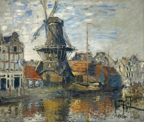 Painting - Windmill by Claude Monet