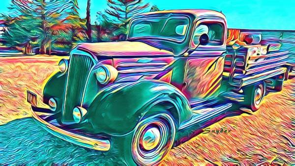 Photograph - Windmill Farms Art Deco Chevrolet Truck by Floyd Snyder