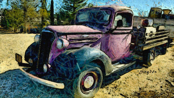 Photograph - Windmill Farms Chevrolet Truck 2 by Floyd Snyder