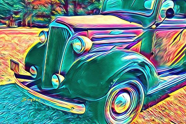 Photograph - Windmill Farms Chevrolet Truck Art Deco by Floyd Snyder