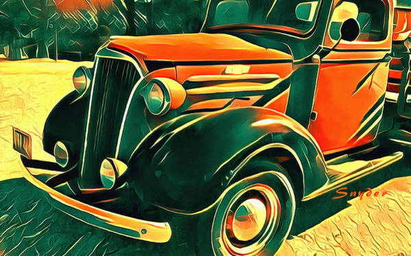 Photograph - Windmill Farms Chevrolet Truck Detail by Floyd Snyder