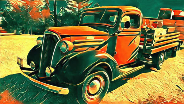 Photograph - Windmill Farms Chevrolet Truck by Floyd Snyder