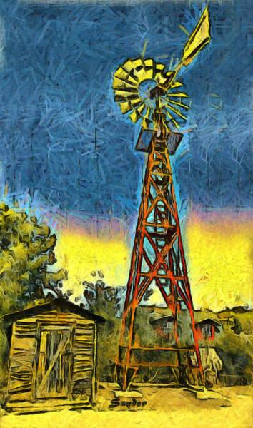 Photograph - Windmill Farms Windmill Art Deco by Floyd Snyder