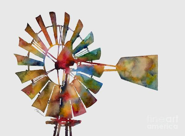Wind Painting - Windmill by Hailey E Herrera