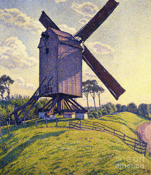 Windmill Painting - Windmill In Flanders by Theo van Rysselberghe